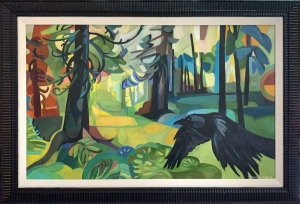 Raven in the Forest