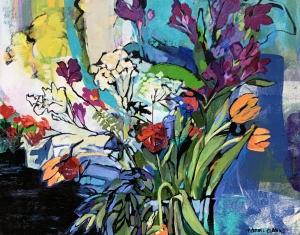 Flowers in Blue