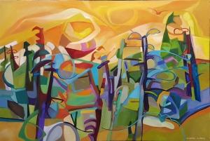Saffron Landscape