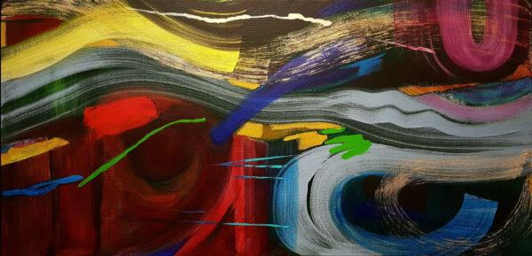 Tyrrell Clarke artist artwork Abstract Mountain View