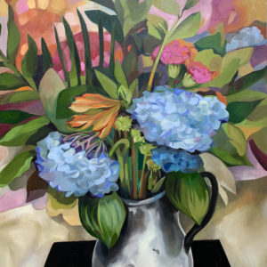 Hydrangea Love Painting by Tyrrell Clarke Oil on Canvas 36 by 48